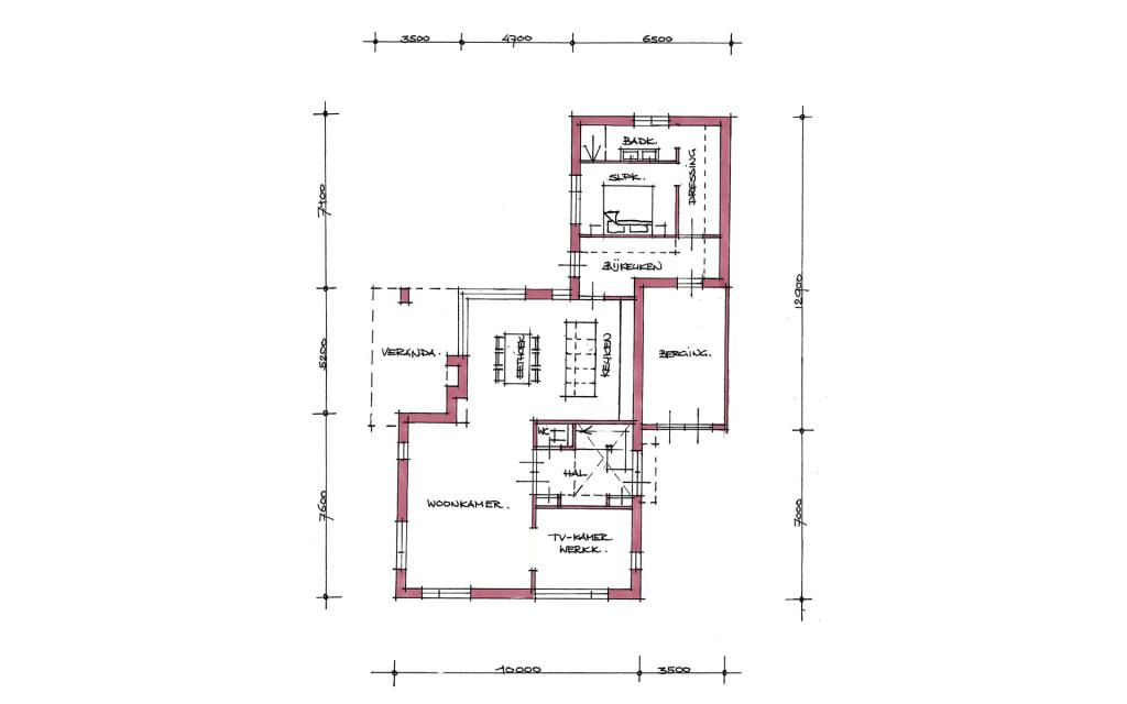 Moderne vrijstaande woning plattegrond
