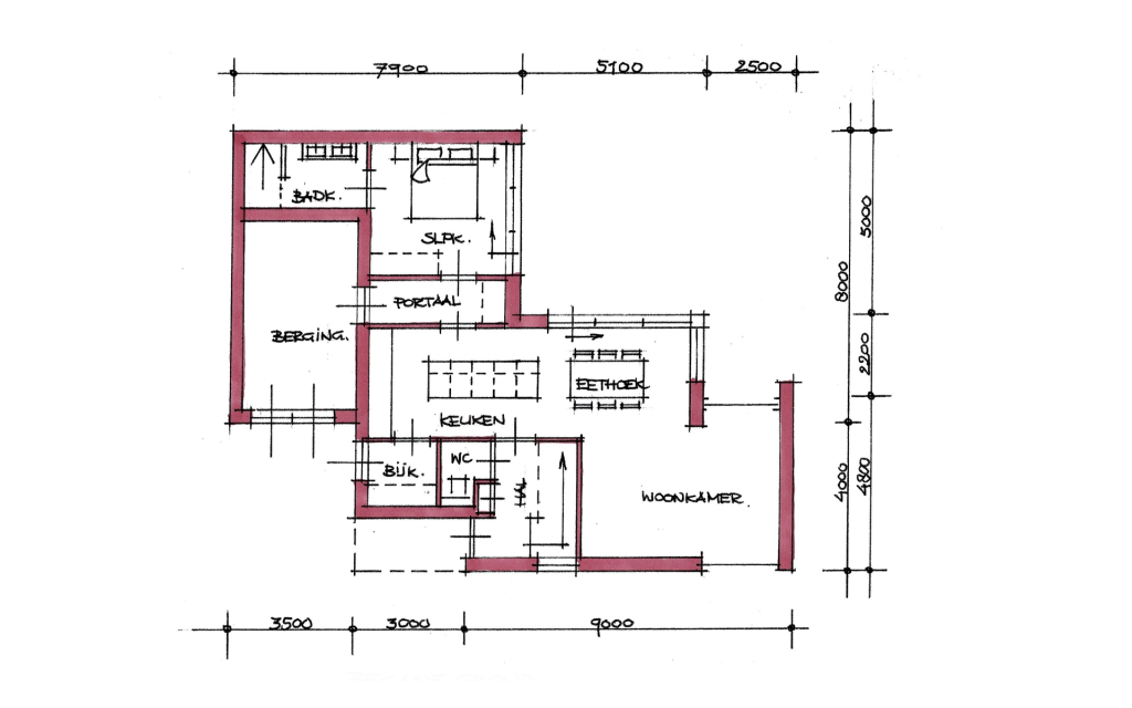 Kubistische vrijstaande woning plattegrond