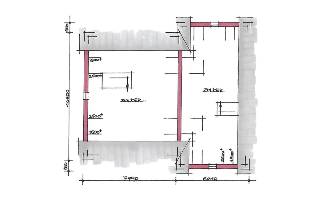 Eigentijdse twee-onder-een-kap woning plattegrond