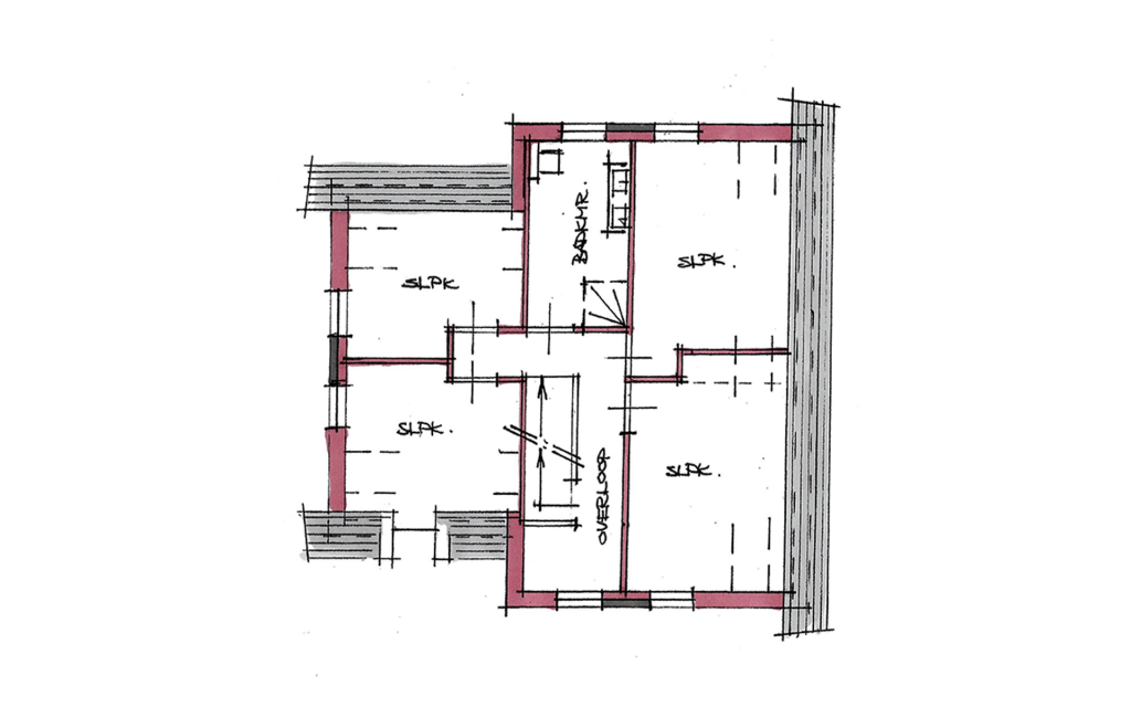 Modern vrijstaande woning plattegrond
