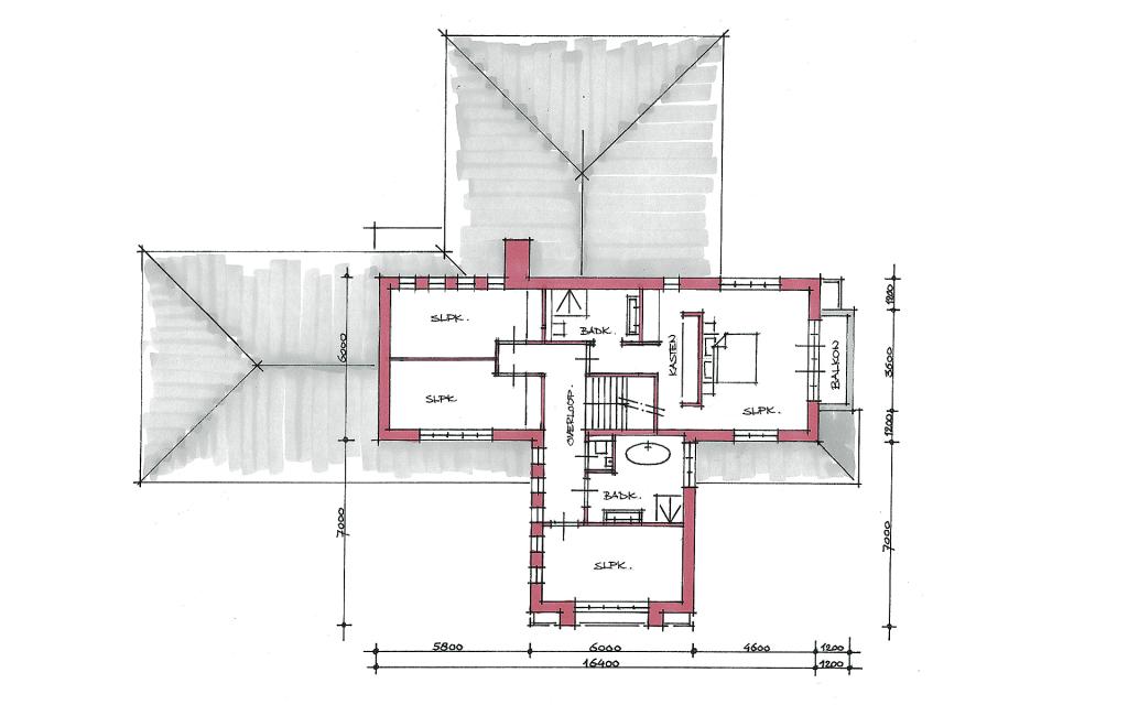 Frank Lloyd Wright woning plattegrond