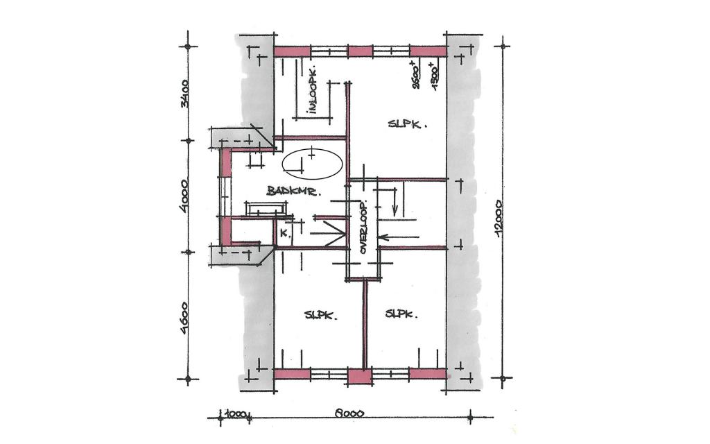 Traditionele vrijstaande woning verdieping