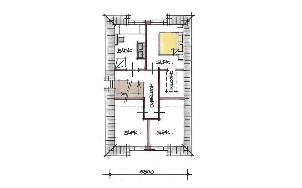 Jaren 30 vrijstaande woning verdieping
